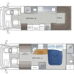Origin motorhome series layouts 3 & 4