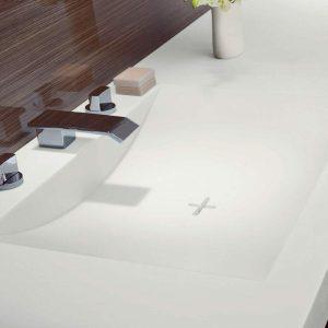laminex integrated sink in vanity