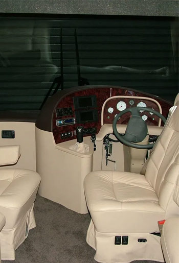 immaculate leather interior to your motorhome